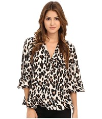 Nanette Lepore Leopard Top Leopard Women's Blouse Animal Print