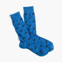 J.Crew Bear Socks Brilliant Blue Bear