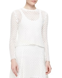 Theory Krezia Netted Long Sleeve Top