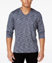Alfani Men's Big And Tall Tri Color Long Sleeve T Shirt Only At Macy's New Grey Combo
