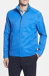 Men's Big And Tall Cutter And Buck 'Blakely' Weathertec Wind And Water Resistant Full Zip Jacket Gala Blue