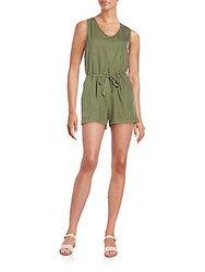 Saks Fifth Avenue Red Ophelia Short Jumpsuit Olive