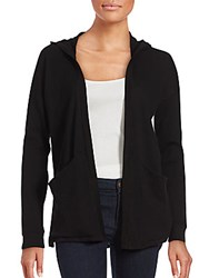 Splendid Solid Hooded Cardigan Black