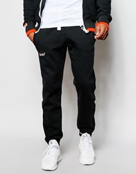 Superdry Tracksuit Bottoms With Tipping Black