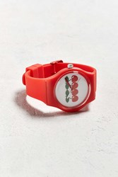 Urban Outfitters Uo Art Watch Cherries Red