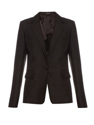 Maison Martin Margiela Shantung Silk Tailored Blazer Black