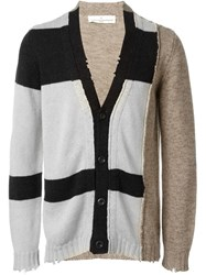 Golden Goose Deluxe Brand Panelled Cardigan Nude And Neutrals