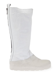 Rubber Soul Tonal Knee High Boots White