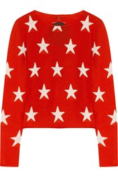 Banjo And Matilda Star Intarsia Cashmere Sweater Red