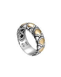 John Hardy Naga Gold And Silver Band Ring Silver Gold