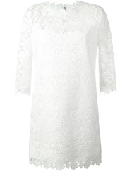 Ermanno Scervino Macrame Lace Dress Nude And Neutrals