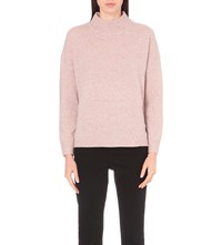 Whistles Funnel Neck Donegal Knitted Jumper Pale Pink