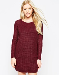 Vero Moda Long Sleeve Jumper Dress Winetasting