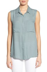 Women's Pleione Sleeveless Shirt Blue Arona