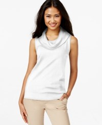 Joseph A Sleeveless Cowl Neck Sweater Ivory