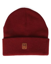 Knowledge Cotton Apparel Burgundy New Wool Hat