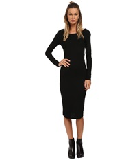 Only Books Long Sleeve Ribbed Dress Black Women's Dress