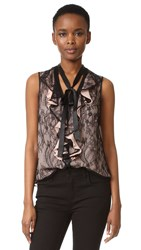 Nanette Lepore All Or Nothing Tie Neck Blouse Black