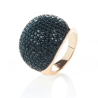 Latelita London Black And Gold Ball Ring Gold Black