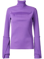 G.V.G.V. Ribbed Layered Longsleeve Blouse Pink Purple