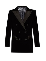 Blaze Milano Everyday Jealousy Cotton Velvet Blazer Black