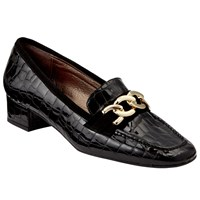 John Lewis Arianna Court Shoes Black Croc
