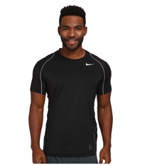 Nike Hypercool Fitted S S Black Dark Grey White Men's Short Sleeve Pullover