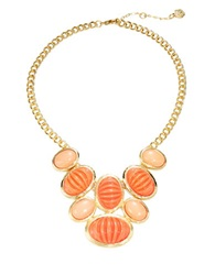 Trina Turk Cabochon Statement Necklace Coral