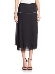 Aquilano Rimondi Chiffon Sheer Waist Skirt Black