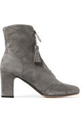 Tabitha Simmons Afton Suede Ankle Boots Gray