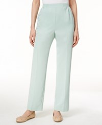 Alfred Dunner Cyprus Collection Pull On Straight Leg Pants Mint
