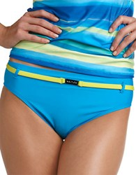 Nautica Belted Hipster Swim Bottom Blue