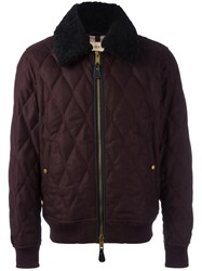 Burberry Classic Bomber Jacket Red