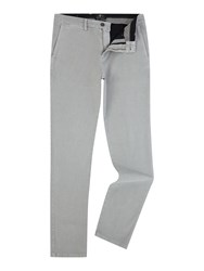 7 For All Mankind Slimmy Luxe Performance Sateen Chino Trousers Grey