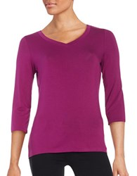 Lord And Taylor V Neck Tee Cosmos Purple