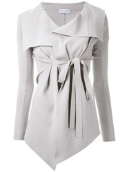 Scanlan Theodore Belted Draped Front Jacket Nude And Neutrals