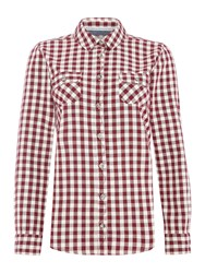 Brakeburn Gingham Shirt Red