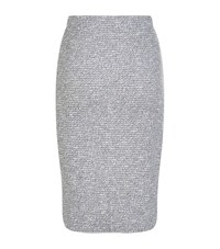 D.Exterior Boucle Pencil Skirt Female Silver