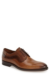 Mezlan 'Basel' Plain Toe Derby Men Cognac