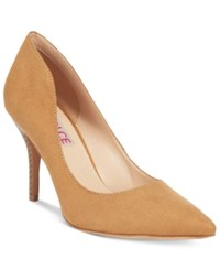 Mojo Moxy Dolce By Tammy Pointed Toe Pumps Women's Shoes Nude Suede