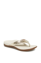Vionic With Orthaheel 'Tide' Sequin Flip Flop Gold