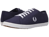 Fred Perry Kingston Twill Carbon Blue White Men's Lace Up Casual Shoes