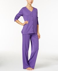 Charter Club Printed Pajama Set Only At Macy's Purple Duo Dots