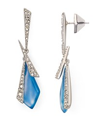 Alexis Bittar Crystal Encrusted Mosaic Lace Drop Earrings Blue