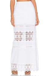 Nightcap Diamond Lace Maxi Skirt White