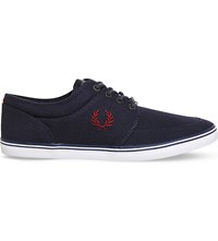 Fred Perry Stratford Canvas Trainers Navy Canvas