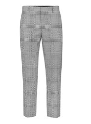 Topman Black And White Twisted Check Skinny Fit Cropped Suit Pants