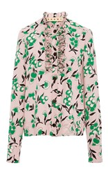 Marni Sistowbell Floral Blouse Pink