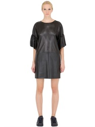 Space Style Concept Laser Cut Faux Leather Dress