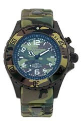 Kyboe Women's Camouflage Silicone Strap Watch 40Mm